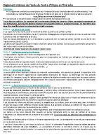 Réglement intérieur école 2020-2021